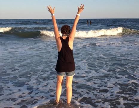 kylee at the beach
